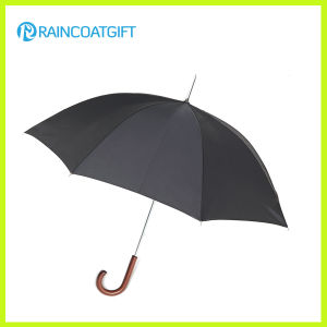 High Quality Anti Wind Wooden Straight Umbrella pictures & photos