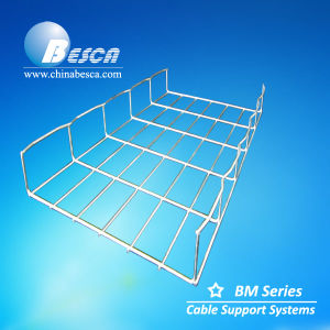 Hot Dipped Galvanised Straight Edge Wire Mesh Cable Tray with SGS and UL Certification