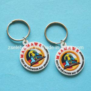 Round Rubber PVC Keyholder for Gifts pictures & photos
