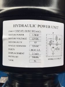 DC Hydraulic Power Unit with Steel Tank pictures & photos