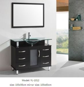 Bathroom Vanity Furniture with Glass Sink pictures & photos