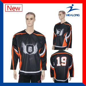 Healong Custom Sportswear Fashion Sublimation Mesh Ice Hockey Jersey pictures & photos
