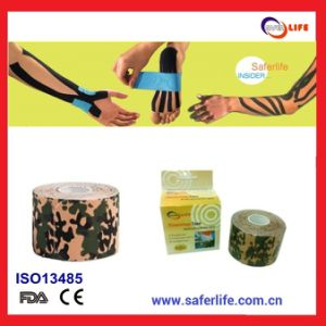 2015 Wholesale Cotton Camouflage Kinesiology Sports Military Kinesio Tape Kinesio Military Tape Colored Military Kinesiology Tape pictures & photos