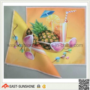 Custom Digital Printed Colorful Microfiber Cloth (DH-MC0421) pictures & photos
