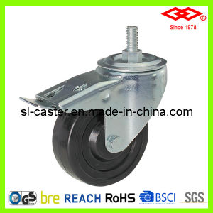 "5"" European Type Hard Rubber Industrial Castor Wheel (L102-53B100X32S) pictures & photos"