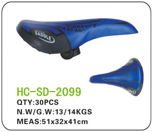 Blue and Black Leather MTB Saddle (SD-2099) pictures & photos