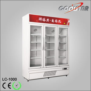 Verticle Three Door Refrigeratering Showcase (LC-1000) pictures & photos