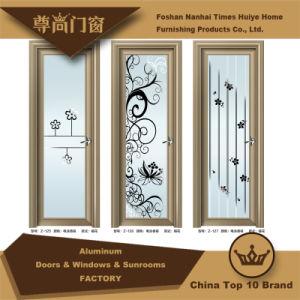 Interior Decoration Aluminium Casement Doors with Mirror Flower pictures & photos