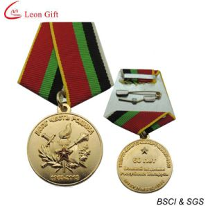 3D Design Gold Medal with Ribbons (LM1715) pictures & photos