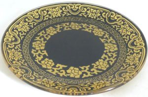 Classical Retro Decorative Food Tempered Glass Plate pictures & photos