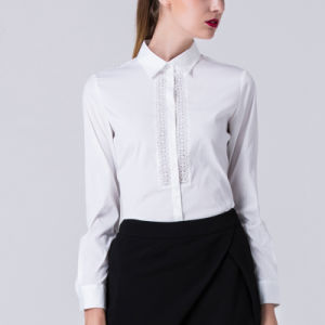 Women Elegant Shirts New Design Formal Blouse for Office Lady pictures & photos