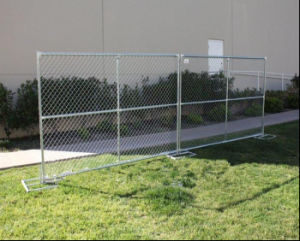 6ftx12FT USA Construction Chain Link Temporary Fence with Stand pictures & photos