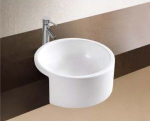 Ceramic Ware Half Wall Hung-Basin (W7055) pictures & photos