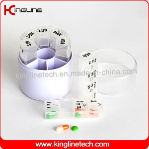 Plastic Cylindrical Weekly Pill Box (KL-9037) pictures & photos