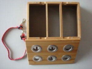Bamboo Moxa Box - Six Holes pictures & photos