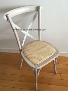 Limewash Cross Back Chair with Half Matte pictures & photos