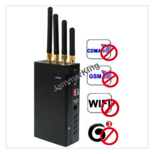 Handheld Jammer Blocker for GSM/CDMA, 3G, WiFi/Black Color Handheld Jammer with Genuine Leather Case pictures & photos