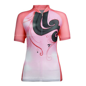 Fashionable Sublimation Print Cycling Shirt for Women (KGC0425)