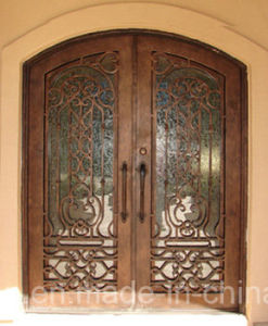 Beautiful Security Wrought Iron Front Doors with Kickplate pictures & photos
