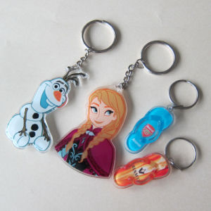Custom Promotion Plastic/Acrylic Keychains Cartoon Acrylic Key Rings pictures & photos