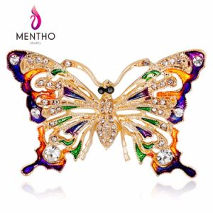 New Enamel Painted Colorful Rhinestone Butterfly Brooch Fashion Jewelry pictures & photos