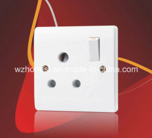 5A 1 Gang Round Pin Socket Outlet pictures & photos