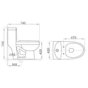 2190 Bathroom Sanitary Ware Cupc Approved Ceramic Toilet pictures & photos