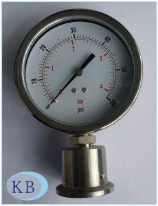 "4"" Filled Sanitary Diaphragm Pressure Gauge, Crimped Case pictures & photos"