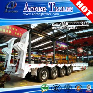 4 Axles 80 Tons Low Bed Semi Trailer, Lowbed Truck Trailer pictures & photos
