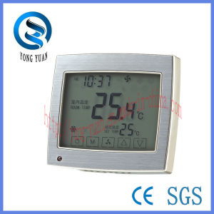 Touch Screen Metal Drawing Panel Room Thermostat (MT-06) pictures & photos