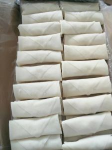 Flat Rectangle Frozen Vegetable 25g/Piece Egg Rolls with HACCP Certification pictures & photos