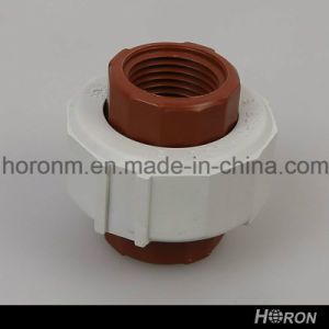Pph Water Pipe Fitting-Thread Reducer-Elbow-Tee-End Cap-Union (1/2′′X1/2′′) pictures & photos