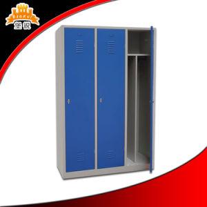 3-Doors Steel Compartment Storage Locker pictures & photos