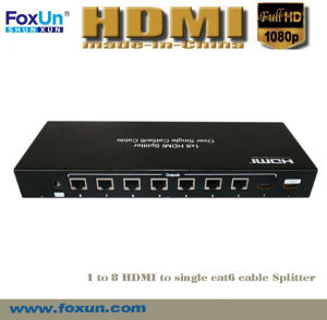 8 Port HDMI 50m Splitter Over Cat5e Cable Support 3D at 1080p