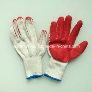 10 Gauge Raw White Late Coated Gloves Working Gloves Latex pictures & photos
