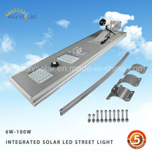 3 Years Warranty New design 140lm/W All in One LED Solar Street Lamp, Garden Solar Light pictures & photos