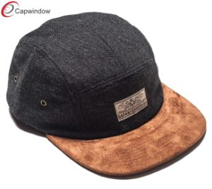 Suede Bills Black Canvas Crown Camping Cap for Outdoor Hat (07034) pictures & photos