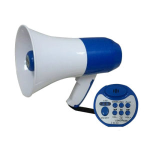 Handheld Lithium Cell Megaphone with LED Support USB pictures & photos