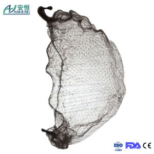 Black Disposable Medical Elastic Mesh Cap/Hairnet pictures & photos