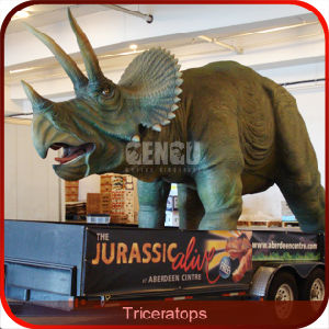 Quality Lifelike Triceratops Dinosaur Model pictures & photos