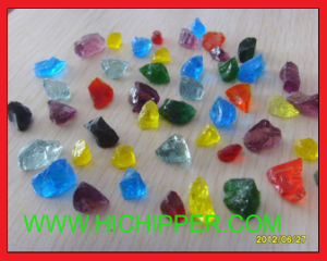Garden Landscaping Decoration Crushed Colored Glass Rock pictures & photos
