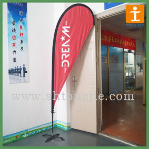 Cheap Custom Polyester Curved Top Flag (TJ-08) pictures & photos