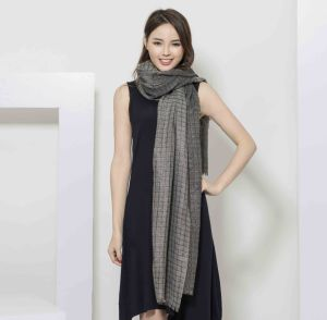 100%Cashmere Yarn Dye Scarf with Lurex Fashion Cashmere Shawl in Metallic pictures & photos