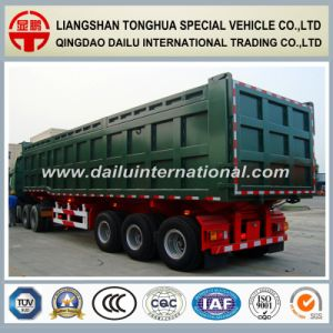 3 Axles Rear Self-Dumping/Tipper Semi Trailer for Heavy Cargo Transport pictures & photos