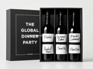 High Quality Luxury Black Cardboard Wine Box (TW-WB0002)