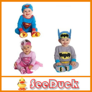 Cute Baby Rompers with Cap Bat/Superman Design Long Sleeve 3 Styles Can Choose 3PCS/Lot Ks1523