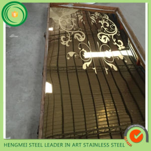 New Product Elevator Doors Cladding Mirror Etching Stainless Steel Sheet in Wholesale Price pictures & photos