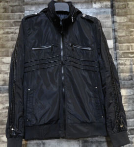 Black Motorcycle Light Outdoor Wear New Fashion Stripe Men Jacket pictures & photos