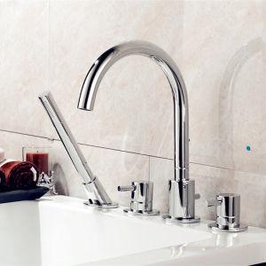 Four Hole Bathtub Bath Faucet for Sanitary Ware