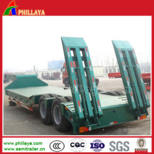 Double Axles Excavator Transporting Lowbed Semi Trailer pictures & photos
